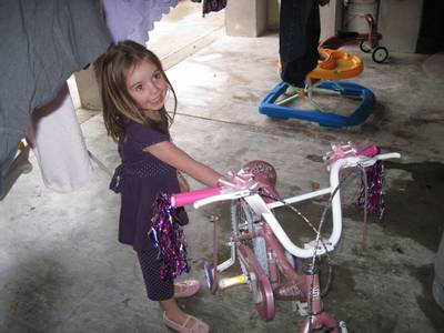 The BIG surprise was a big-girl bike!