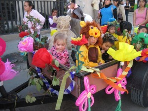 Then Jenna got offered a ride on one of the floats, which was wonderful since it was a loooong parade.