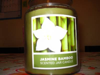 This candle makes my whole house smell like Jasmine Bamboo.
