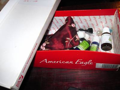 This is what I was using before----a dingy old shoe box.